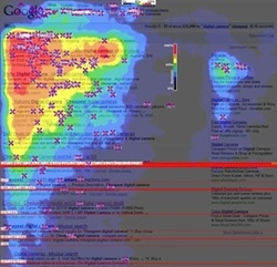Google Search Engine Results Page - Heat Map