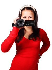 video marketing strategy girl in red